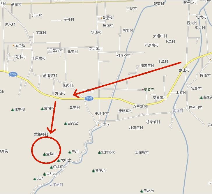 圭峰山路线图