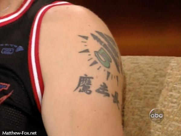 雷死人的老外中文纹身