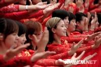 国庆晚会千人大合唱最后一次带妆彩排