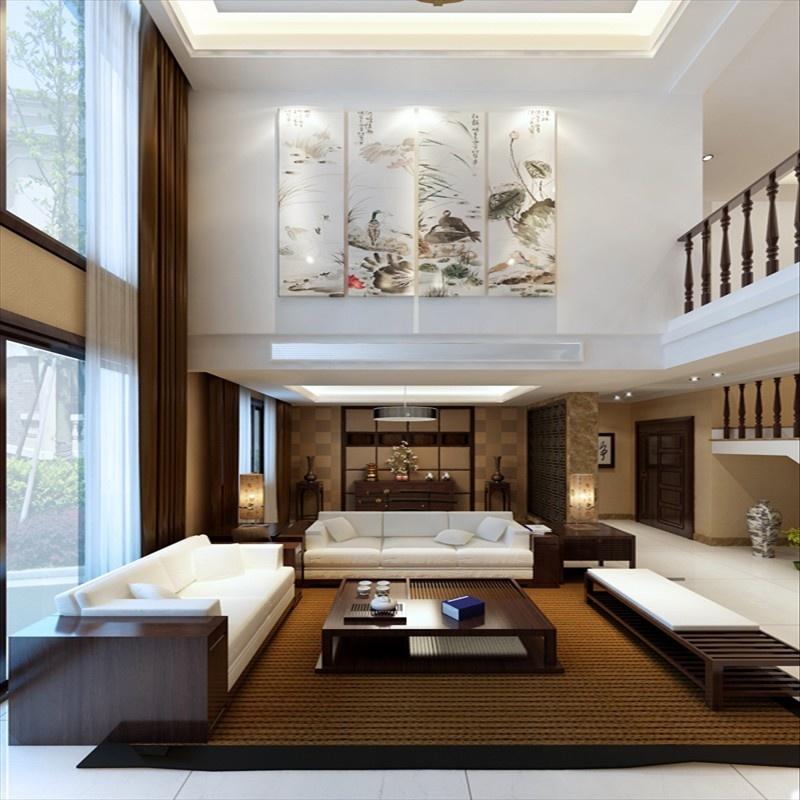 24万打造房山一渡新新小镇260平现代中式别墅设计