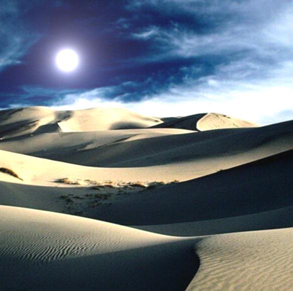 黑夜沙漠图片素材