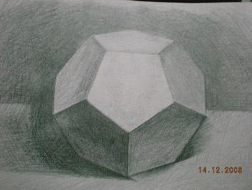 课后练习五 结构素描圆锥 组合 十二面体