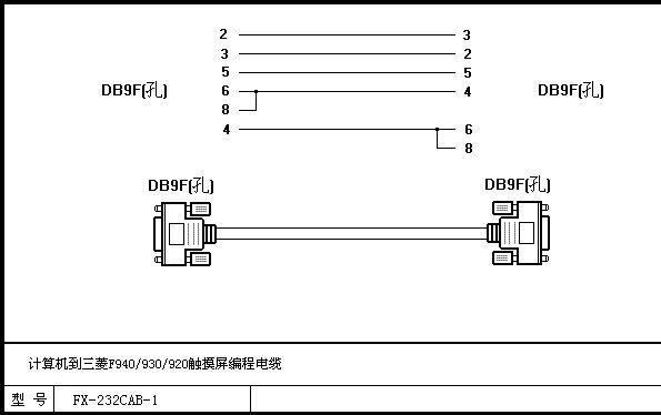 三菱f900触摸屏连接电脑的接线图