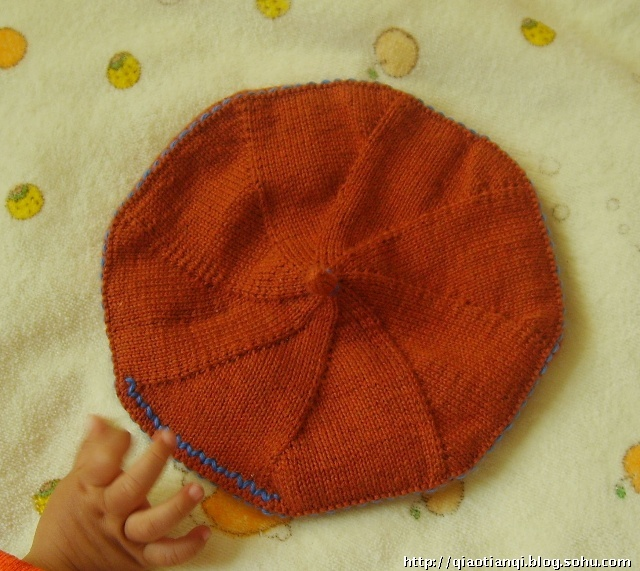 儿童八角帽编织图解