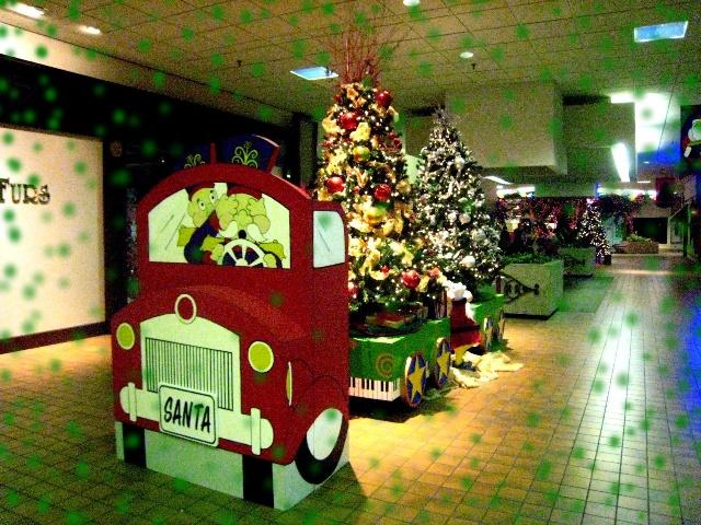美国商场里的圣诞装饰