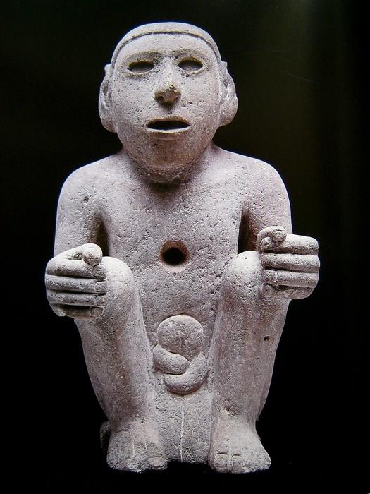 坐姿人物雕塑模型