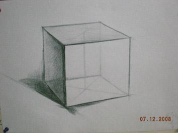 六棱锥素描步骤图