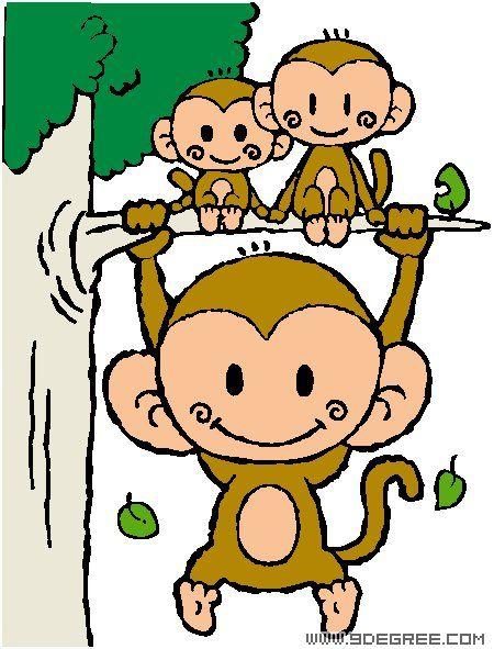 音乐三只猴子图片 高清图片