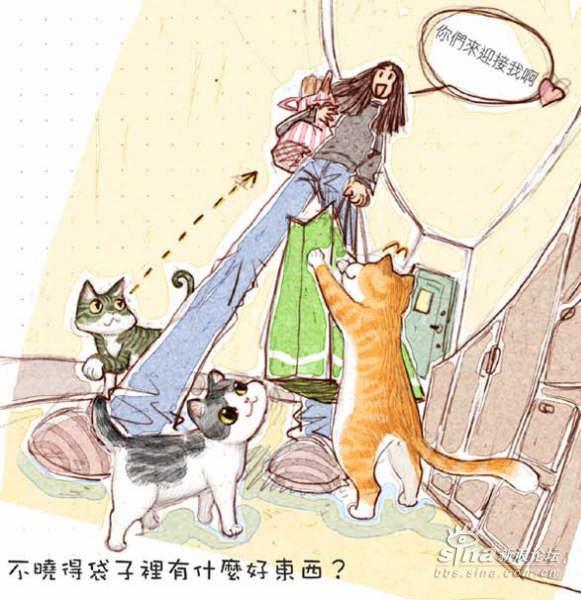 猫咪手绘图-小平胸乐队主唱-搜狐博客
