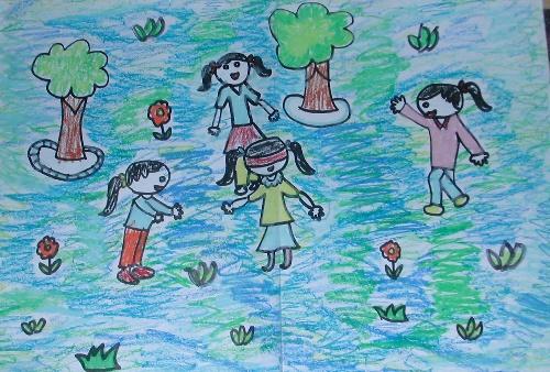 我长大了幼儿园主题画