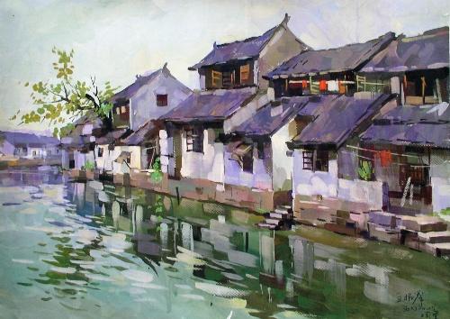 2007年江南水粉画风景写生-王昭举画坊-搜狐博客图片