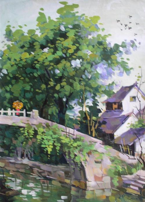 2007年江南水粉画风景写生-王昭举画坊-我的搜狐