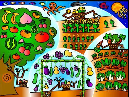 健康人生绿色无毒手绘画