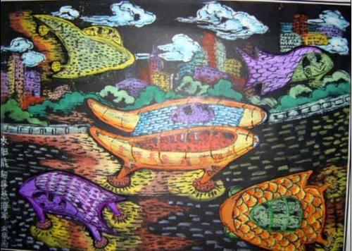 素描科学幻想画大全图片大全下载; 创新科学幻想绘画 梁锦红 - 北京