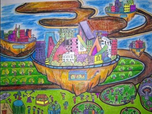素描科技幻想画-创新科学幻想绘画 梁锦红图片