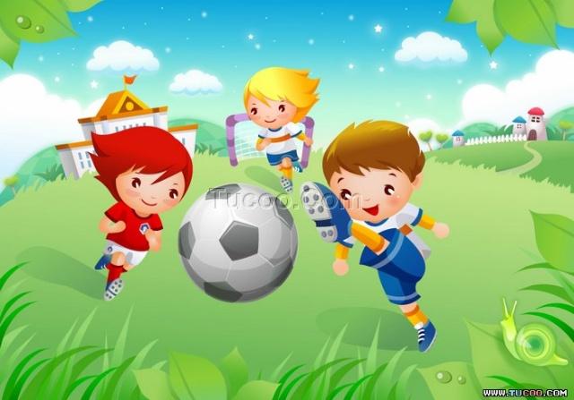 儿童画 运动会