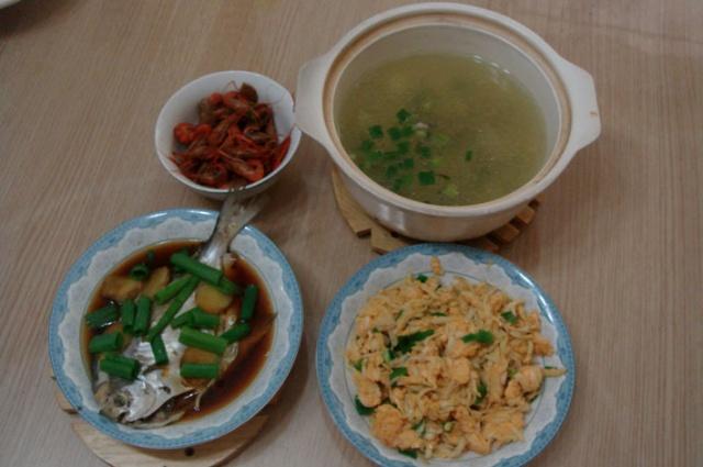 兩個人的晚飯總是簡簡單單的家常菜,果然半個小時搞定.圖片