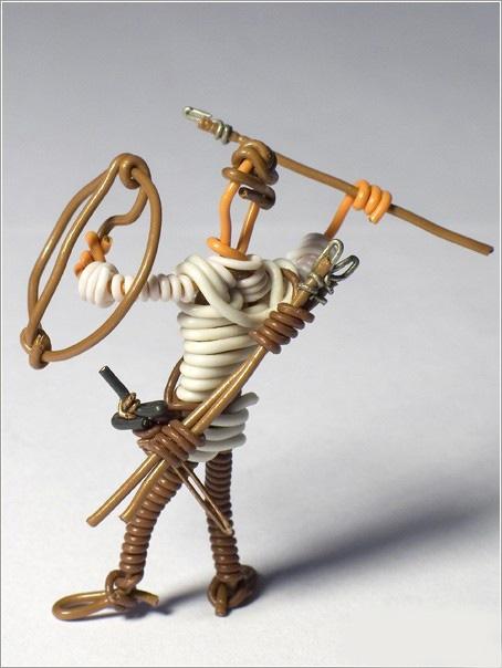 铁丝做立体动物