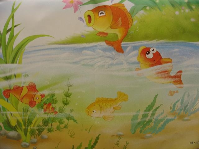 儿童步骤画小河