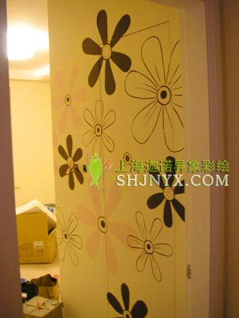 手绘墙-【隐形门花瓣】-上海迦诺异象手绘墙-搜狐博客