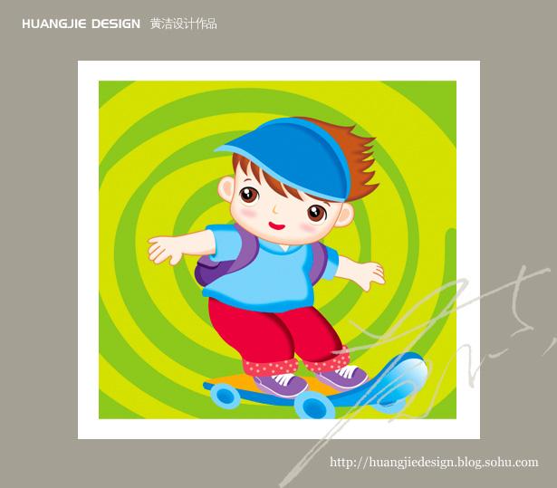 儿童书《翻一翻,对一对》封面插画设计