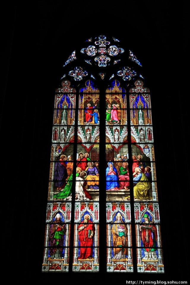 科隆教堂里的窗花,欢迎提供背景故事,呵呵