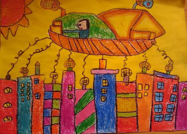 幼儿绘画作品展