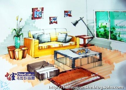 欧式风格客厅装修图片成角透视