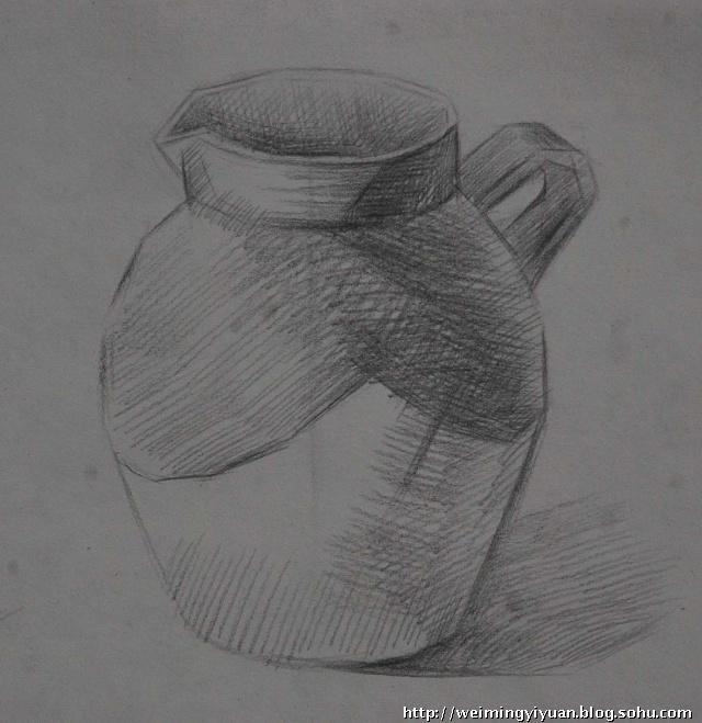 陶罐素描写生
