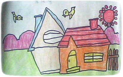 第四幅作品:一年级《风景》