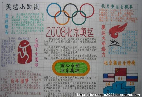 """我心中的北京奥运 骄阳似火的八月,2008年8月8日的北京奥运会就要来了。我的心就像一团火,准备迎接北京奥运会。 我心中的北京奥运是绿色的。各个运动场周边都是绿树成阴、鸟语花香、人与大自然和谐共处的场面。那该是一个多美的景象啊! 我心中的北京奥运是一个拥有高科技的奥运会。你看,用无数个蓝色的透明""""泡泡""""组成的游泳比赛场馆""""水立方""""和用钢铁建筑的主场馆""""鸟巢""""不就是用高科技创造出来的吗? 我心中的北京奥运是一个可以体现中国历史和传统文"""