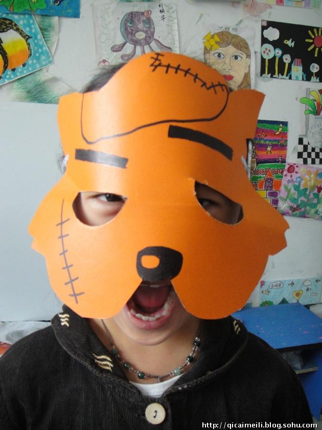 让我们来亲手做个动物面具玩吧!