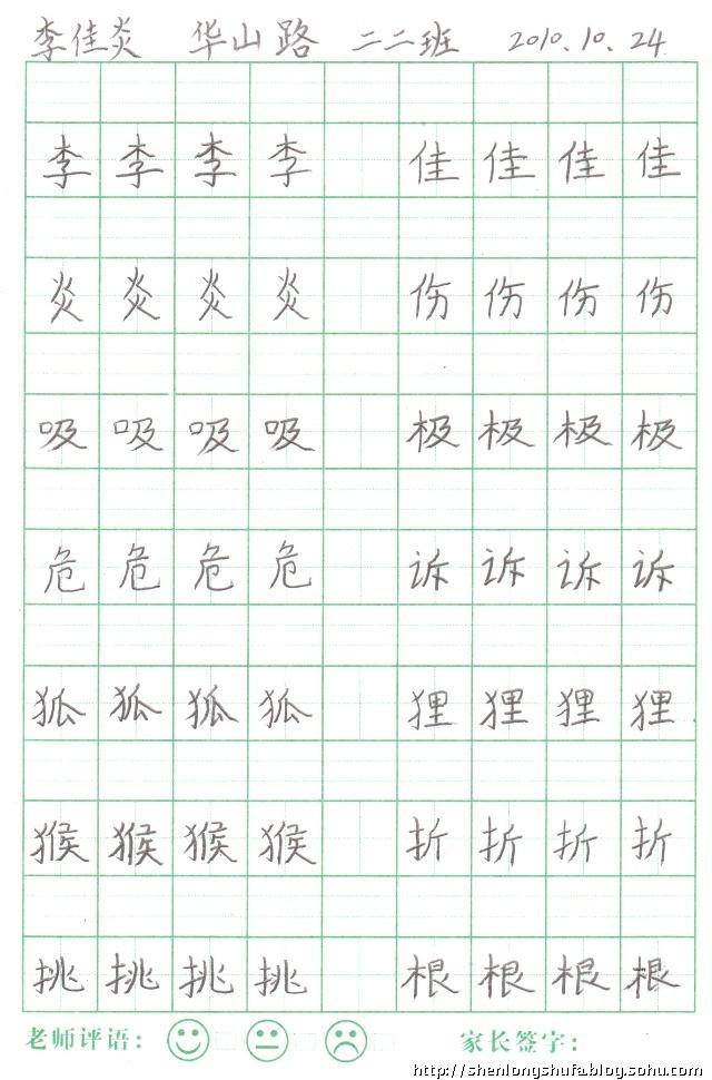 神龙硬笔书法图片