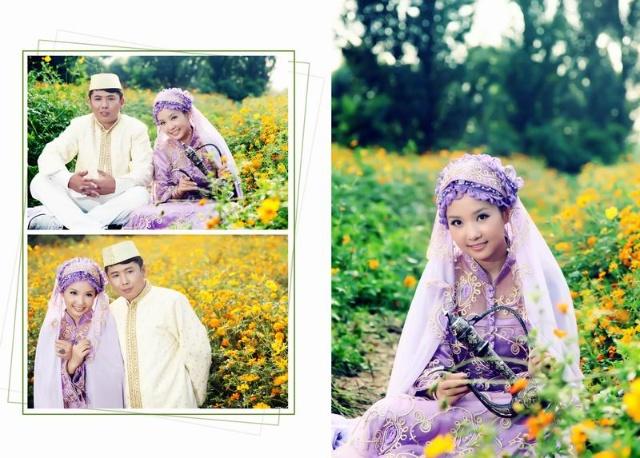 穆斯林婚纱摄影图片