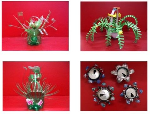 雪碧瓶子做动物花盆 制作方法
