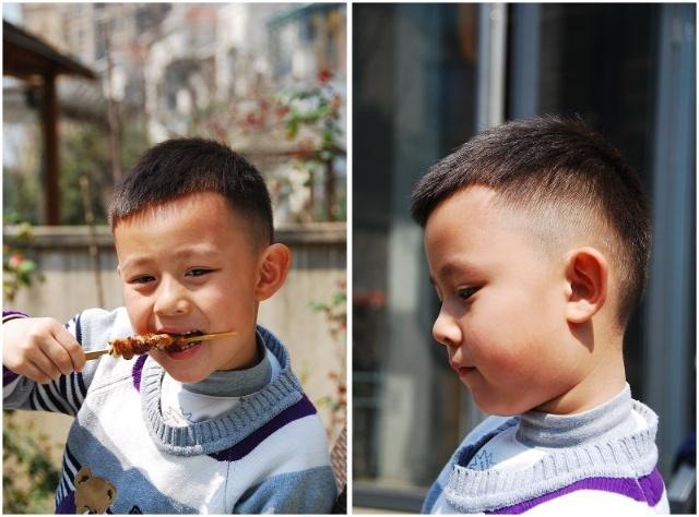 男宝宝桃子头发型图片