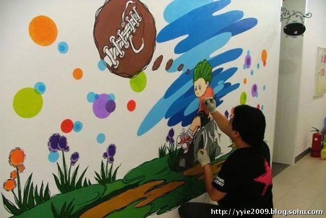 学校墙壁画,儿童游乐园