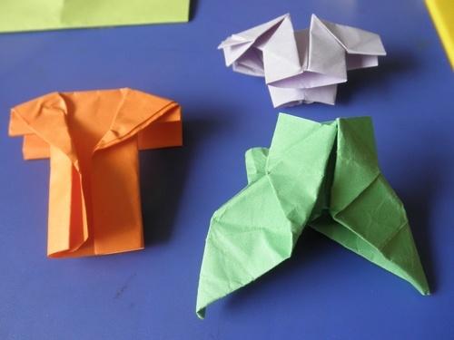 幼儿折纸裤子图解